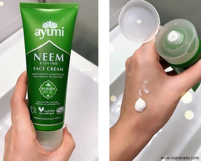 Crema de fata cu neem & tea tree Ayumi