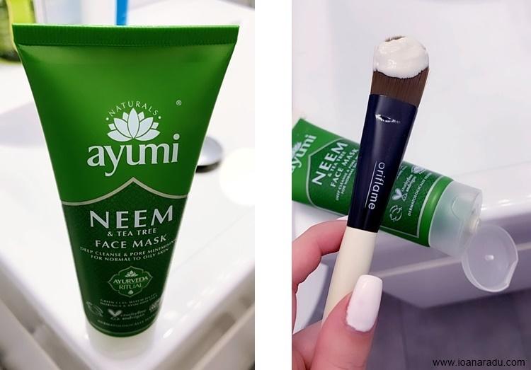 Masca faciala cu neem & tea tree Ayumi