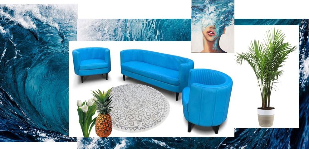 mobelamadeus canapea si fotolii mobilier albastru