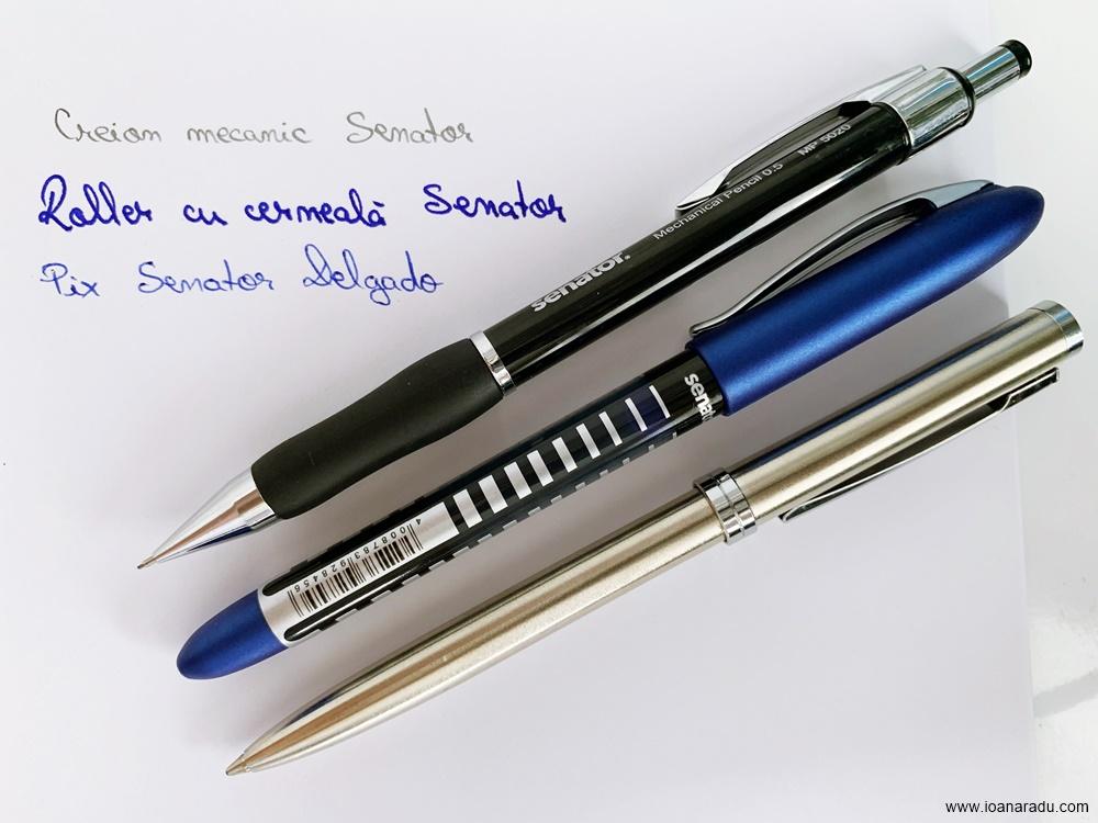creion mecanic roller cu cerneala si pix Senator Delgado PublishingOffice