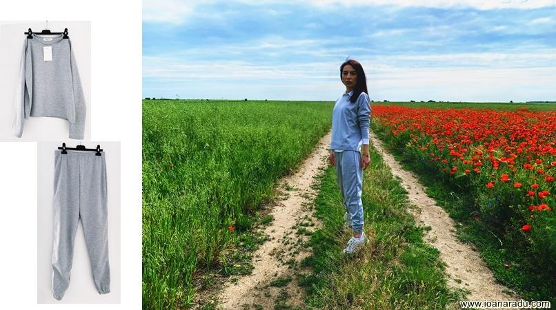 femme luxe finery Grey Long Sleeve Boxy Cuffed Joggers Loungewear Set review