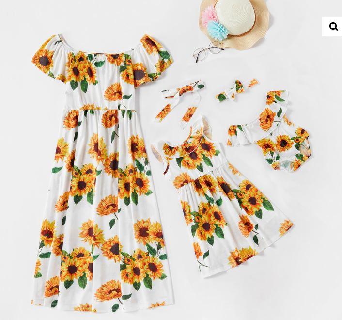 rochii de vara cu print floarea soarelui