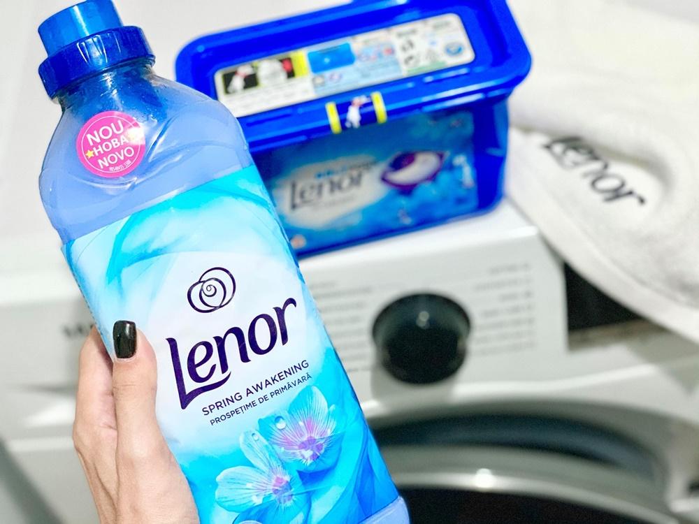 perecheaperfecta detergent capsule si balsam de rufe Lenor