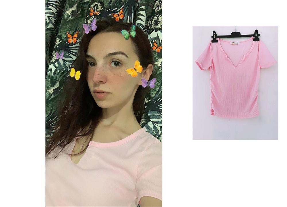 tricou roz