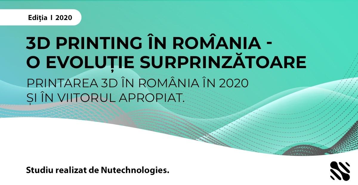 Primul studiu despre 3D printing efectuat în România