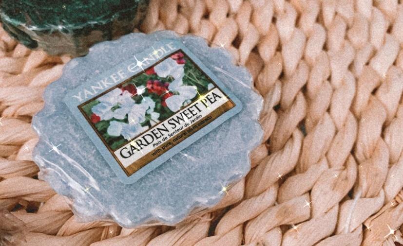 garden sweet pea yankee candle tart hygge